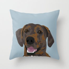 Cooper Brindle Dog Throw Pillow