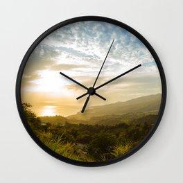 Caribbean Sunset - Martinique Wall Clock