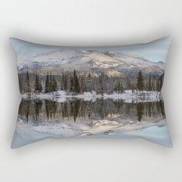 Broken Top sunrise reflection Rectangular Pillow