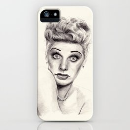 Lucille Ball Portrait iPhone Case