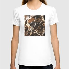Sienna Brown and Black Marble With Creamy Veins T-shirt