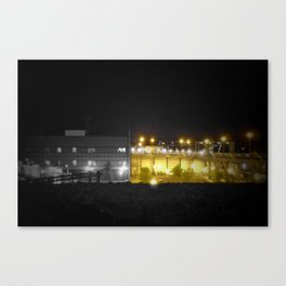 urban Paris black and white with color GOLD Canvas Print