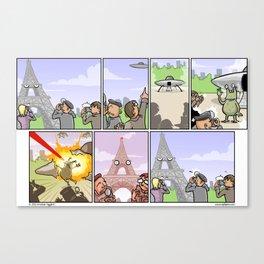Asshole Eiffel Canvas Print