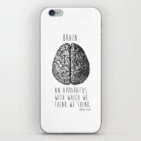 brain iPhone & iPod Skins featuring Brain by T-SIR   Oscar Postigo