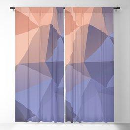 Ariel — poster purpur, violet, rosa, nude, solmon, low poly, geometric, water, landscape, sunrise Blackout Curtain