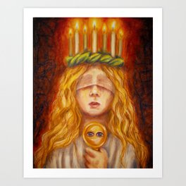 Saint Lucy Art Print
