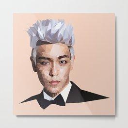Bigbang T.O.P. Low Poly Fanart Metal Print