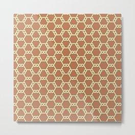 Brown Freeman Lattice Metal Print