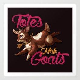 Totes Mah Goats (Dark Version) Art Print