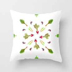 veggies 4 ever Throw Pillow