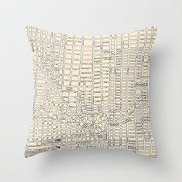 Vintage Map of Detroit (1895) Throw Pillow