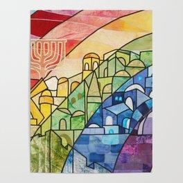 Jerusalem Rainbow Poster