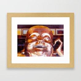 Shiny Happy Buddha Framed Art Print