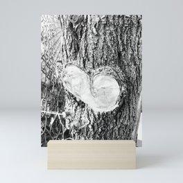 Through my child's eyes Sappy heart black and white Mini Art Print