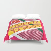 back to the future Duvet Covers featuring Back To The Future by Janismarika