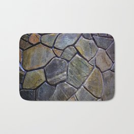 Stone Mosaic Wall Bath Mat
