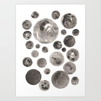 planets Art Prints featuring Planets by Dreamy Me