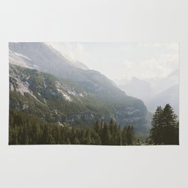 A Switzerland Mountain Valley - Landscape Photography Rug