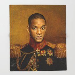 Will Smith - replaceface Throw Blanket