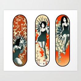 3 Ladies Art Print