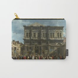 The Feast Day of St Roch by Canaletto Carry-All Pouch