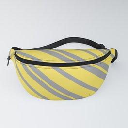 Diagonal Stripes - Pantone Ultimate Gray and Illuminating Fanny Pack