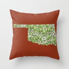 Oklahoma in Flowers Throw Pillow