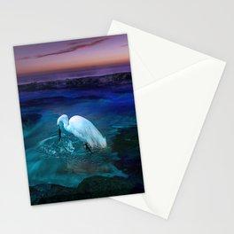 AlohaMish SunsetEgret Stationery Cards