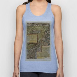 Map Of The Holy Land 1544 Unisex Tank Top