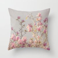 magnolia Throw Pillows featuring Magnolia  by Pure Nature Photos