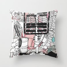 Broken Parts Throw Pillow