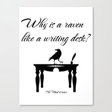 Alice In Wonderland Why Is A Raven Like A Writing Desk Canvas Print