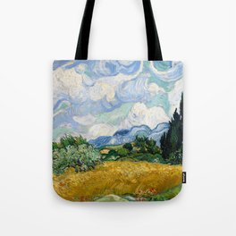 Wheat Field with Cypresses - Vincent van Gogh Tote Bag