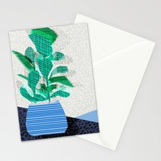 Ditz - house plant art neon pattern texture inky memphis style throwback 1980s 80s retro vintage  Stationery Cards