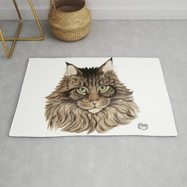 Maine Coon Cat-  Cats By Nina Lyman Rug