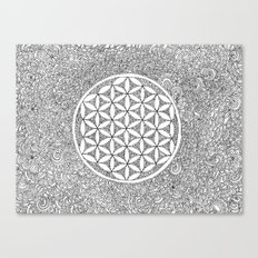 Flower of Life Drawing Meditation Canvas Print
