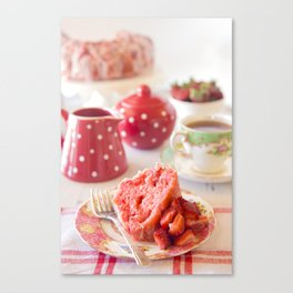 Strawberry Cake Canvas Print