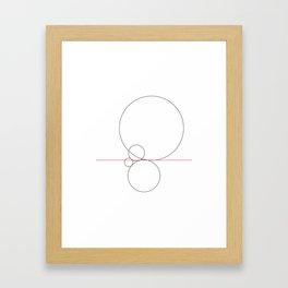 #424 Balance – Geometry Daily Framed Art Print