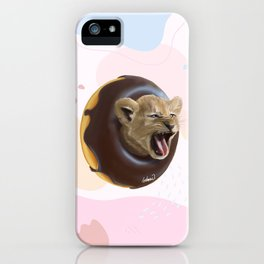 Lion Donut iPhone Case