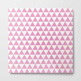 Light Pink Triangle Pattern Metal Print