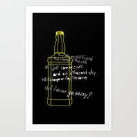 jack daniels Art Prints featuring Jack Daniels by Jaune Citrine
