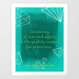 Constancy of Aim & Effort Art Print