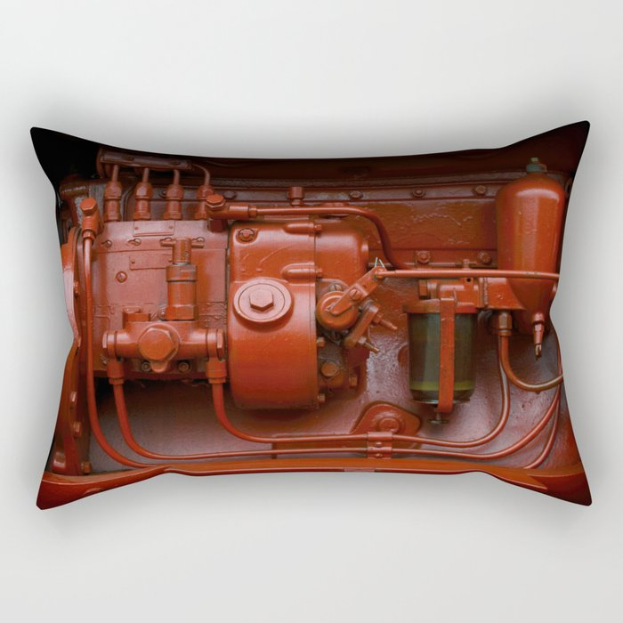Red Tractor motor Rectangular Pillow