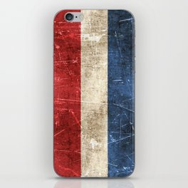 Vintage Aged and Scratched Dutch Flag iPhone Skin