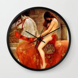 "John Collier ""Lady Godiva"" Wall Clock"