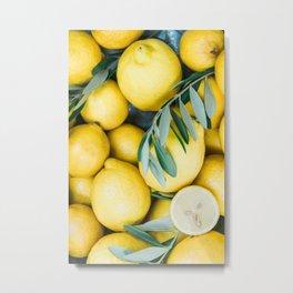 Lemons & Olive branches | Italian lifestyle | Travel photography food wall art print Metal Print