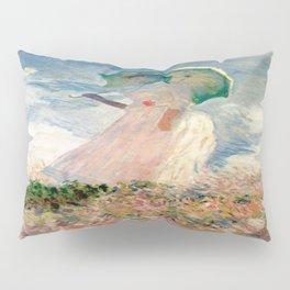 Claude Monet's Woman with a Parasol, Study Pillow Sham