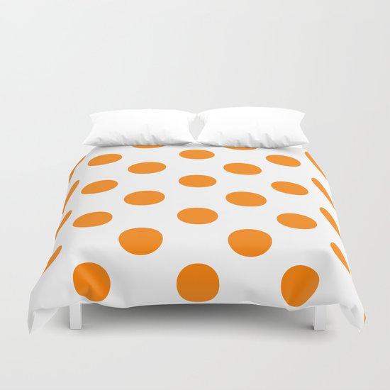 Polka Dots (Orange/White) Duvet Cover