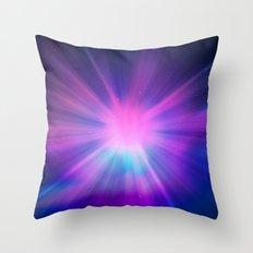 Bursting Galaxy Throw Pillow