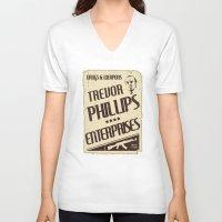 gta V-neck T-shirts featuring GTA Trevor Phillips Enterprises by Spyck